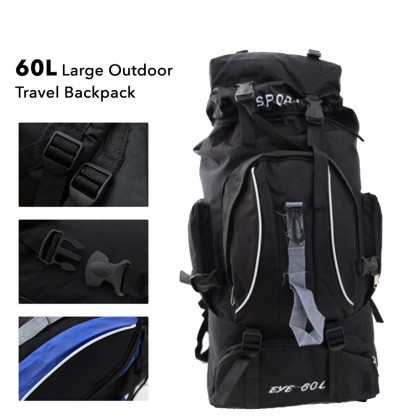 102 60L Large Outdoor Travel Backpack Camping Sports Bags Waterproof Oxford Cloth Backpack