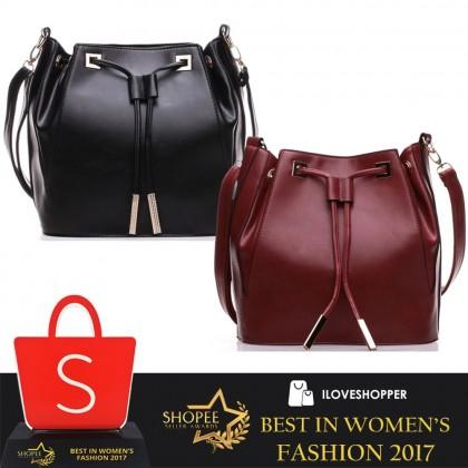 BB01 Premium PU Leather Bucket Bag