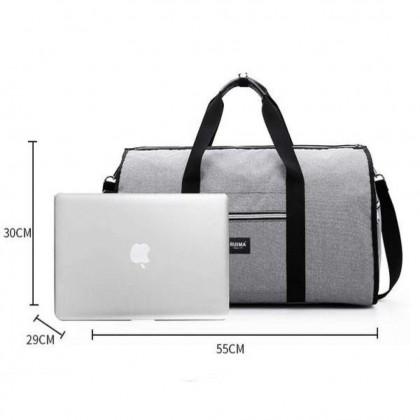 1630 Convertible Garment Bag with Shoulder Strap Carry on Duffel Bag for Men Women