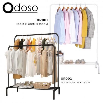 110cm Single/Double Pole Strong Steel Structure Laundry Rack Cloth Organizer Cloth Hanger Rak Baju