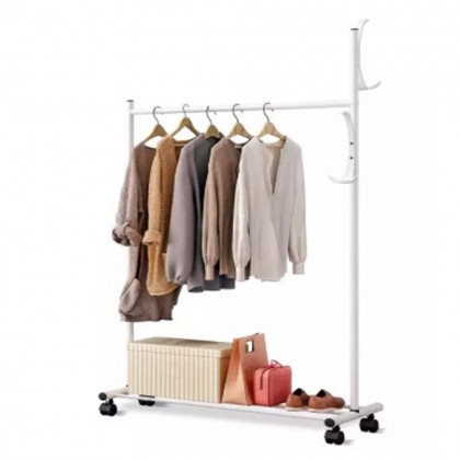 085Y 2 in 1 Laundry Hanger Drying Rack Clothes Rack Coat Rack Clothes Wardrobe