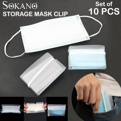 (Bundle Set of 10) Face Mask Portable Storage Clip Storage Bag for Travel and Outdoor Use Topeng Muka Klip Simpan Topeng Muka Sementara (Ready stock in Malaysia)
