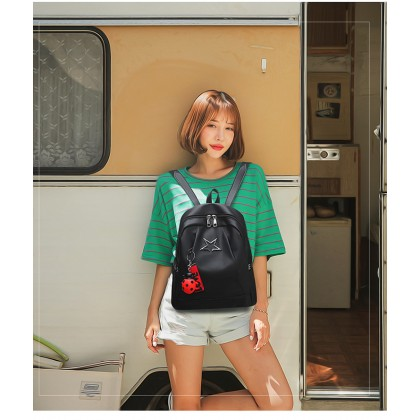 Trendz Double Strap PU Leather Backpack SKN776