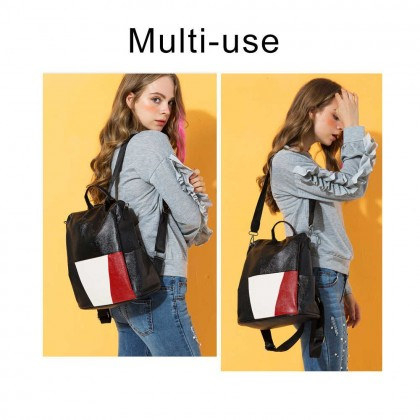 Trendz Double Strap PU Leather Backpack SKN775