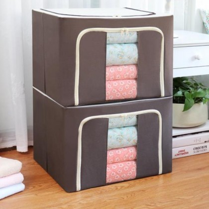 100L Large Capacity Multifunctional Foldable Storage Bag with Steel Frame