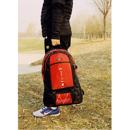 107 60L Large Outdoor Travel Backpack Camping Sports Bags Waterproof Oxford Cloth Backpack (Extendable)