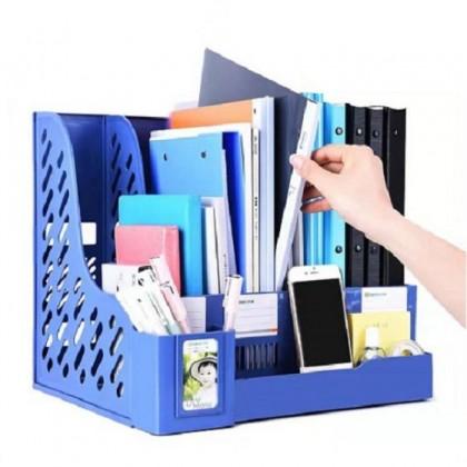 (CY6499) 4 Layer Document File Organizer with Stationery Holder Pen Holder Table Organizer Book Stand Book Shelf Rak Fail Rak Meja
