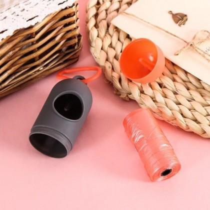 (BUNDLE) Plastic Bag Garbage Bag (15pcs Set) for Diaper Pampers Disposal Garbage Bag Box with FREE Portable Garbage Bag Storage Case Storage Box (Random Colour)
