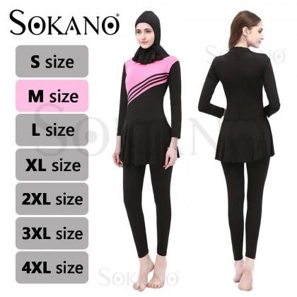 5574 Premium Muslimah Swimsuit Muslim Women Swimwear Islamic Swimsuit for Women Hijab Swimwear Full Coverage Conservative Swimwear Muslim Beachwear Swim Suit Muslim Baju Renang