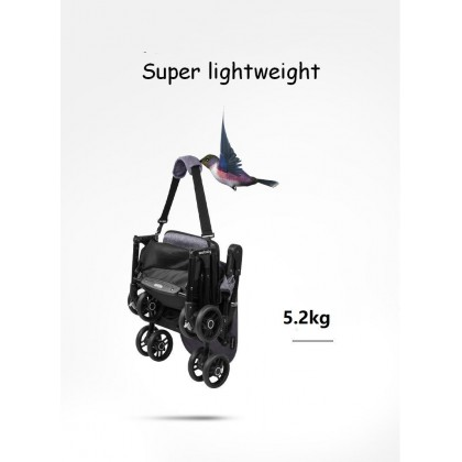 (100% Authentic) Seebaby A2 Backpack Type Stroller Cabin Size Ultralight Weight Foldable Reclinable Stroller (Free 4 Accessories)
