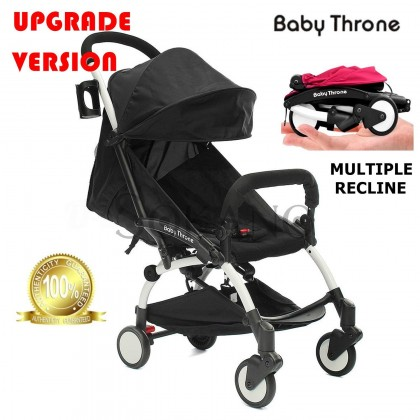(Upgrade Version) Baby Throne Premium Lightweight Multiple Recline Super Compact Foldable Stroller (100% Authentic)