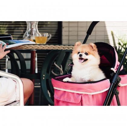 (100% AUTHETNTIC IBIYAYA Pet Happy Trailer Pet Stroller- DA2778 Pink (1 Year Local Supplier Warranty)