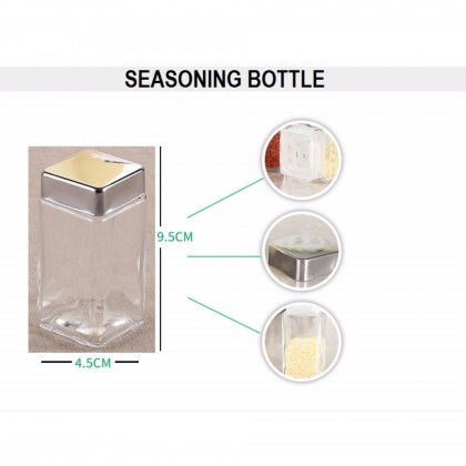 10 Pcs Seasoning Bottle Spice Jars and Oil Dispensers with 2 Tiers Rack