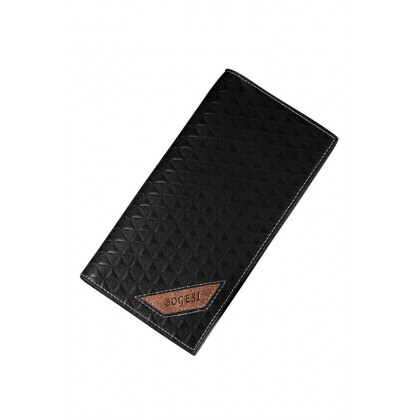 Bogesi 385-8 Premium PU Leather Long Wallet- Black