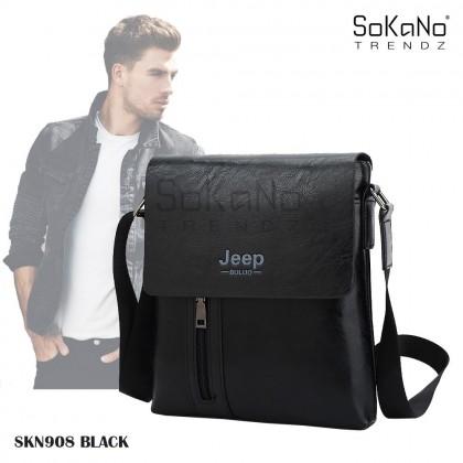 (Bundle)SoKaNo Trendz SKN908 Jeep Vertical PU Leather Sling Shoulder Beg Lelaki Cross Men Bag Gift  + SKN916 JEEP NEW Professional Men Fashion Leather Hand Bag Hand Pouch Dompet