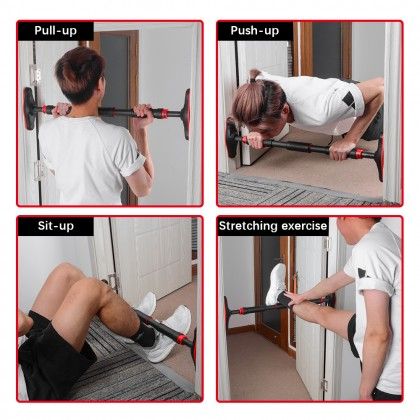 SOKANO GB003 Pull Up Exercise Bar 150kg (Available in 3 Length) Pull Up Bar Screwless Installation Door Pull Bar with Locking Mechanism Chin up Bar Fitness Bar Suitable for Home Gym