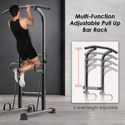 SOKANO 5793 Gym Pull Up Bar Rack Multi-Function Power Tower Adjustable Height Home Fitness Workout Dip Station Pull up Bar Push Up Supports to 330 Lbs
