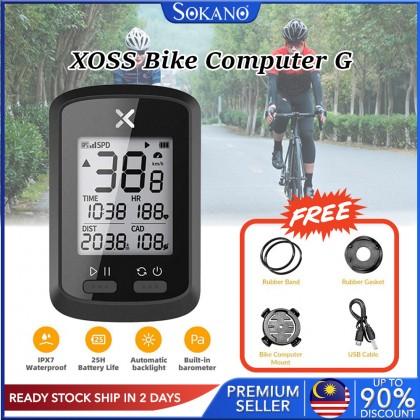 SOKANO Xoss Bike Computer G/G+ Wireless GPS Speedometer Waterproof Road Bike MTB Bicycle Bluetooth ANT+ with Cadence Bick Computers MTB Road Bike Speedometer