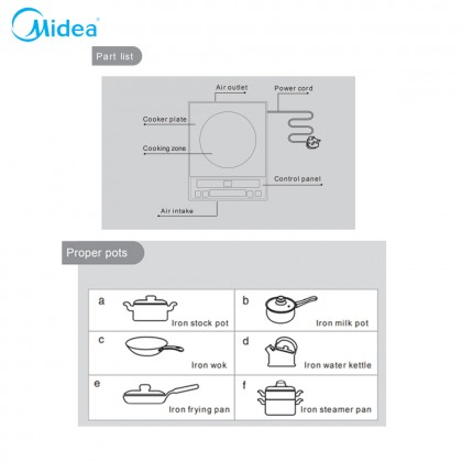SOKANO Midea 1600W Induction Cooker With Soft Touch Control (C16-SKY1613)