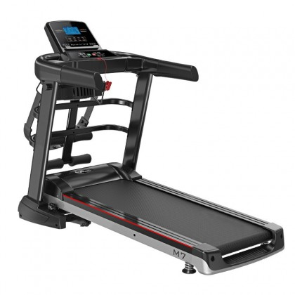 SKN SPORT M7 3.0 HP Multifunctional Treadmill Electric Treadmill Threadmill Foldable Type Strong Structure Widen Pathway (52cm) Sustain Weight Up to 150kg Up to 12.8 KM/H 12 Running Mode Fitness Gym Training