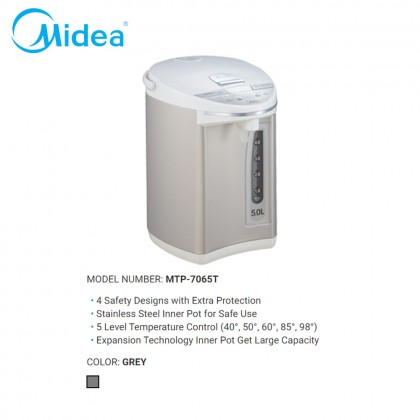 SOKANO Midea 5L Temperature Control Stainless Steel Inner Thermo Pot (MTP-7065T)