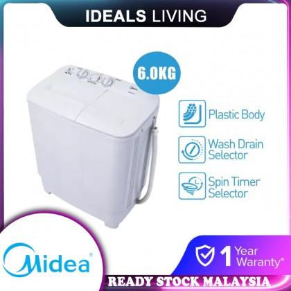 SOKANO Midea 6KG Semi Auto Washing Machine / Washer / Mesin Basuh (MSW-6008P)