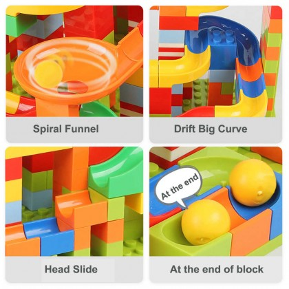 SOKANO X7001 168 Pieces Building Bricks Block with Slide and Funnel For Children Kids Gift Toy for Him Toy for Her Educational Toy Blok Pembangunan Mainan