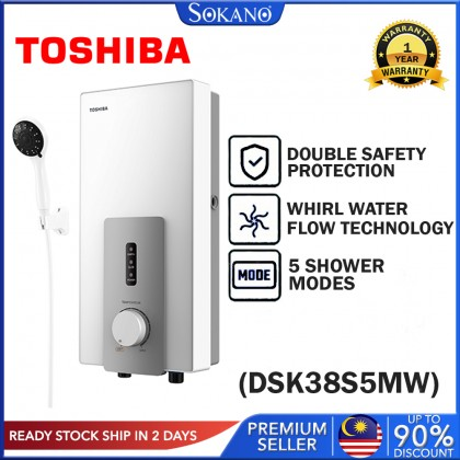 SOKANO Toshiba Instant Electric Water Heater Without Pump (DSK38S5MW)