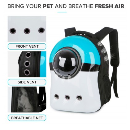SOKANO PTB004 Pet Cat Small Dog Space Bag Breathable Backpack Travel Carrying Bags