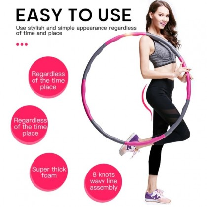 SOKANO Detachable Hula Hoop (2 Size 2 Colours Option) with Detachable Segment For Sports Fitness Massage Adult Slimming Body