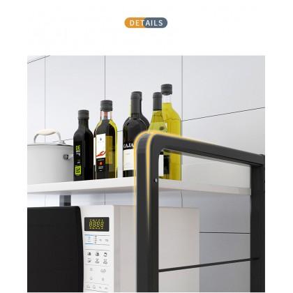 SOKANO ZWJ002402N379 Nordic Design Scandinavian Style Kitchen Rack Microwave Oven Shelf Multi-function Kitchen Storage Shelf Storage Rack With Door Rak Dapur